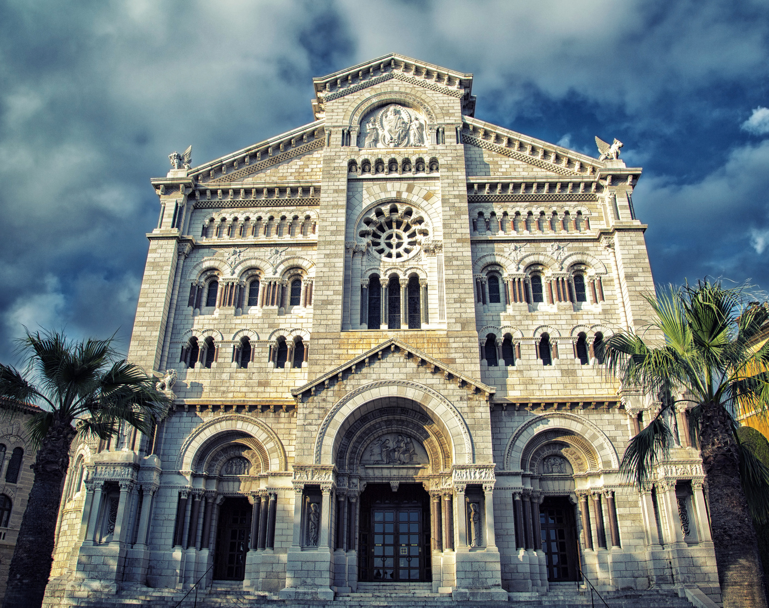 Facade of Saint Nicholas Cathedral. Monaco