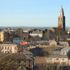 View of Cork city and St Anne's Church, Ireland
