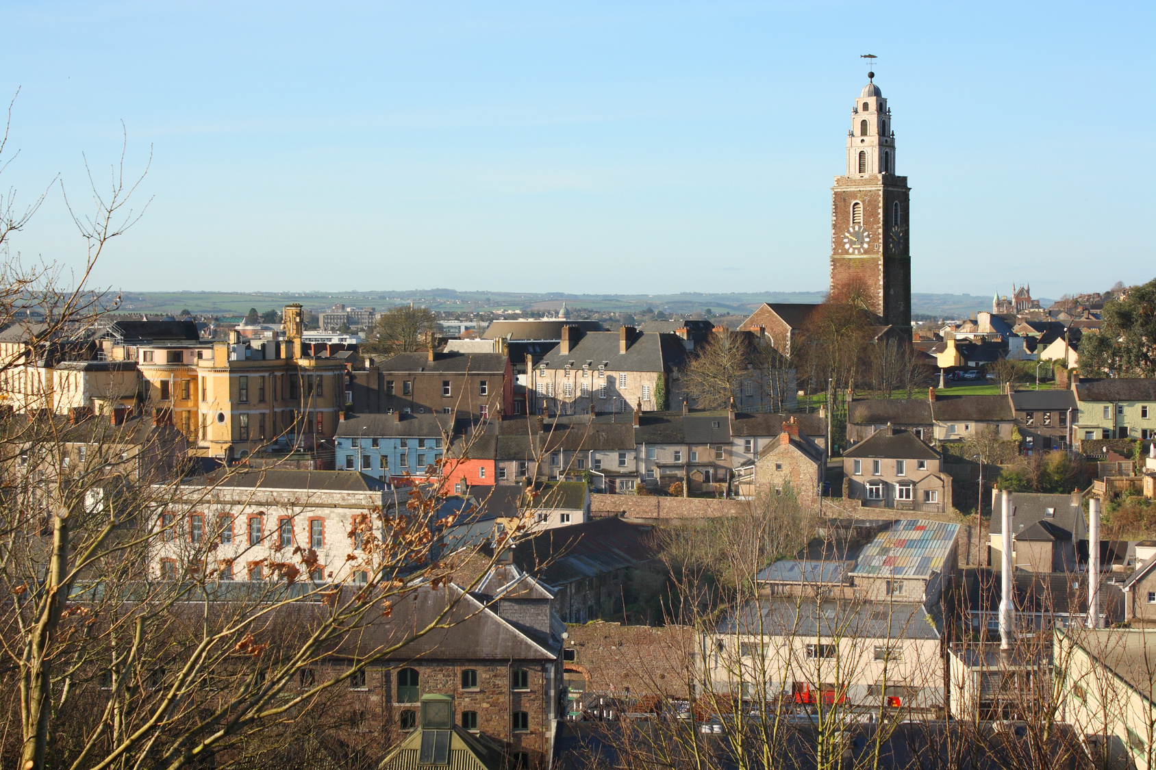 View of Cork city and St. Anne's Church, Ireland